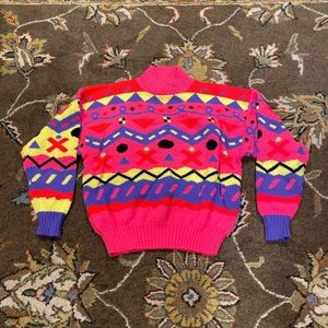 VTG Obermeyer Sweater 90s Sz L Wmns